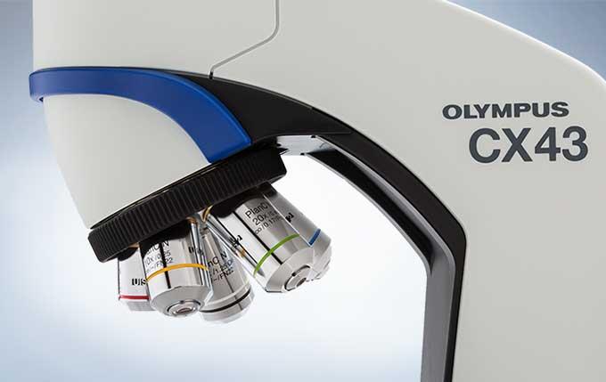 奥林巴斯显微镜CX43使用多达五个物镜