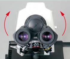 E100观察筒瞳距可向上调节