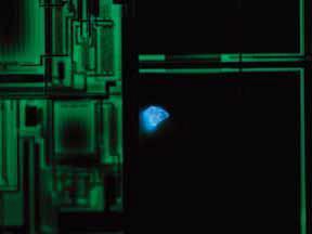 半导体晶圆上的颗粒异物